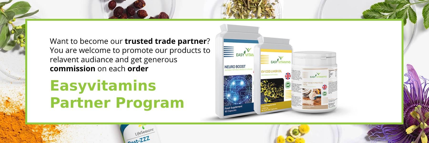 Easy Vitamins Partner Program